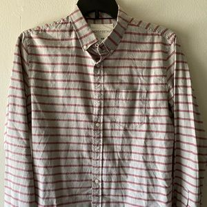 Aeropostale Mens Long Sleeve Striped Shirt Medium